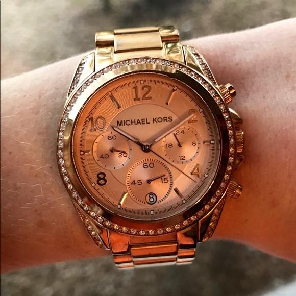 f72762d0dc37 Michael Kors MK5263 Women s Blair Rose Gold Watch.  M 5a7eec0984b5ce0cddbfc4dc
